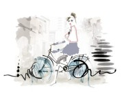 panna na rowerze